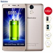 "6000 мАч Blackview P2 4 ГБ + 64 ГБ 5.5 ""Android6.0 идентификации отпечатков пальцев MTK6750T Octa Core 1.5 ГГц 4 г LTE смартфон GPS OTG"