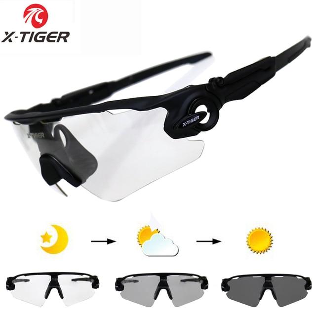 95bbb48626 X-TIGER Sport Photochromic Polarized Glasses Cycling Eyewear Bicycle Glass  MTB Bike Bicycle Riding Fishing Cycling Sunglasses