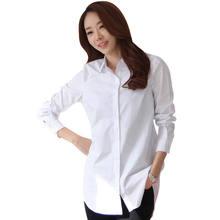 ec2c66b662f Новые Классические мягкие женские белые рубашки с длинным рукавом тонкие  элегантные офисные женские деловые рубашки