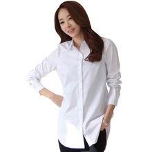 New Classical Soft Women Long Sleeve White Shirts Slim Elegant Office L