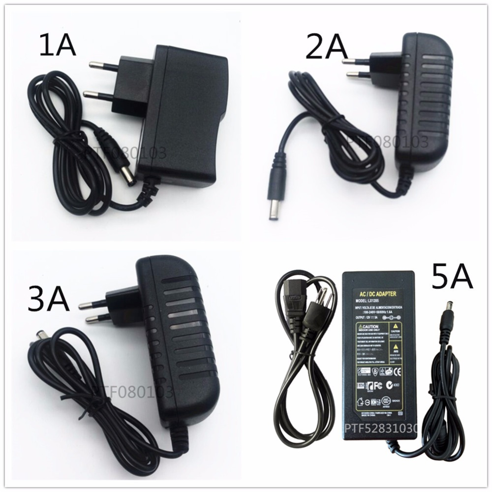 EU/US AC 85-245V To DC 5V/12V24V/ 1A 2A 3A 5A 6A 8A 10A Power Supply Adapter Driver Switch For 3528 530 5050 Strip LED