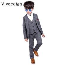 Brand Boys Formal Suits Wedding Party Tuxedo Blazer Vest Pan