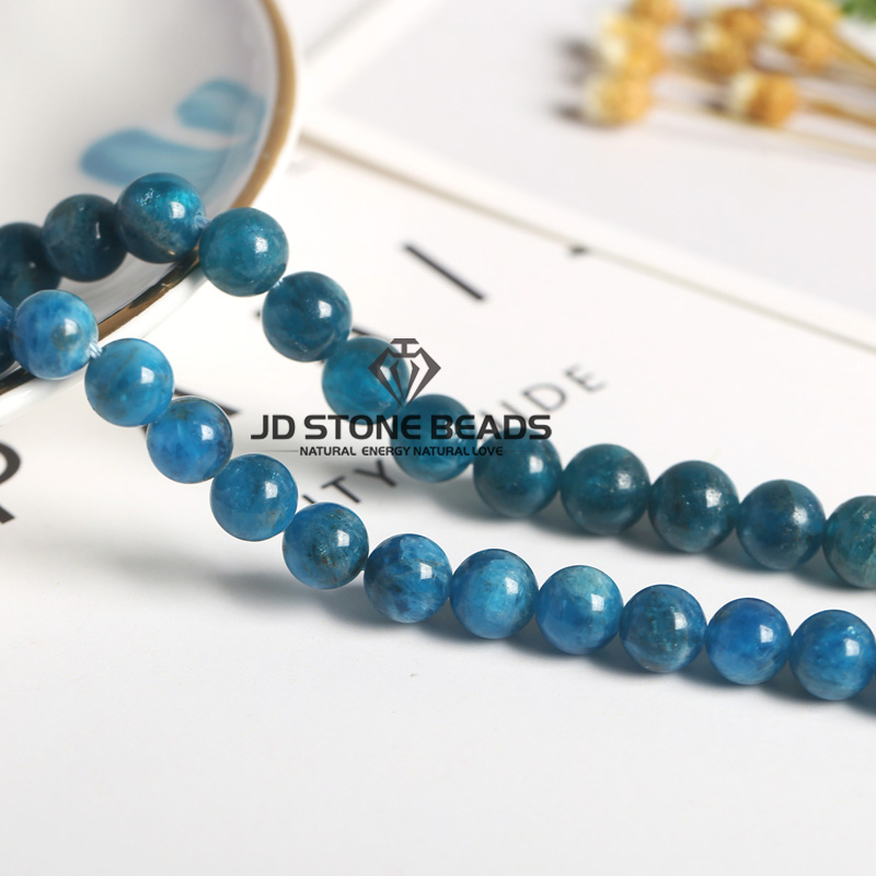 Natural Blue Apatite Fashion Ice Apatite Gemstone Hand-made Ornament Necklace Accessory For Jewelry Making Semi-precious Stone