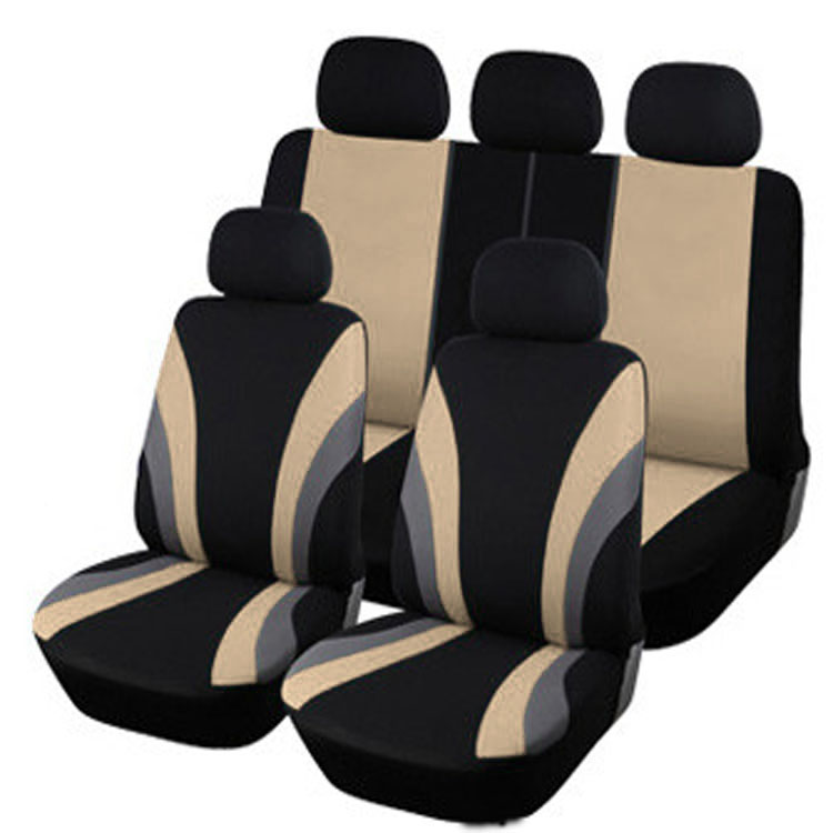 Full Seat High Quality Car Covers Universal Fit Polyester 3MM Composite Sponge Styling lada car cases