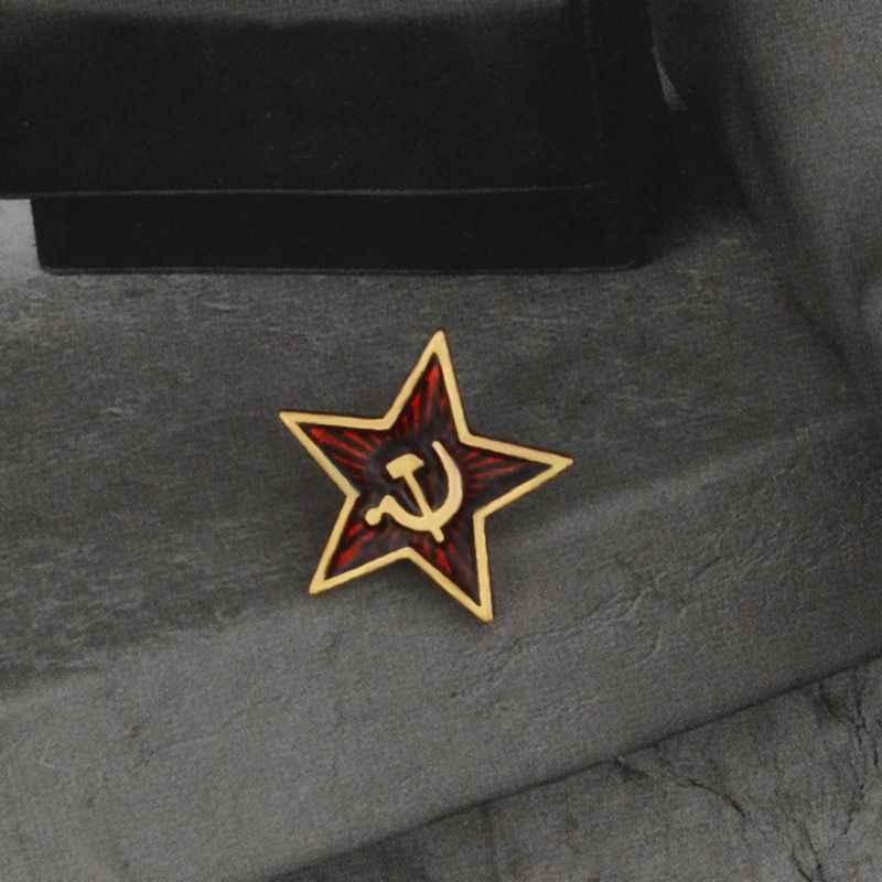 1PC Retro Uni Soviet Simbol Enamel Pin Bintang Merah Sabit Hammer Perang Dingin Soviet Pro Kitty Bros Hadiah Ikon Lencana Kerah pin untuk Mantel Topi