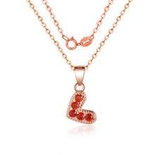 Fashion Necklace Heart-Shaped CZ Zircon Pendant Simple Temperament Fresh Womens Versatile Jewelry