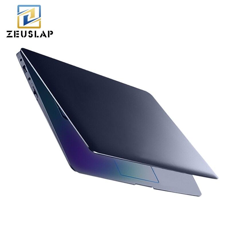 ZEUSLAP 14 inch 8 г Оперативная память 64 ГБ SSD 500 ГБ HDD Intel 4 ядра Windows 10 Системы 1920X1080 P FHD ультратонкие Тетрадь ноутбук
