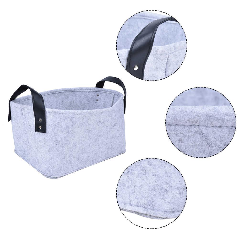 HIFUAR шерстяной войлок хранения колец игрушка книга Складная Прачечная Корзина для грязного белья корзины для игрушек Держатель Одежда сумка для хранения дома