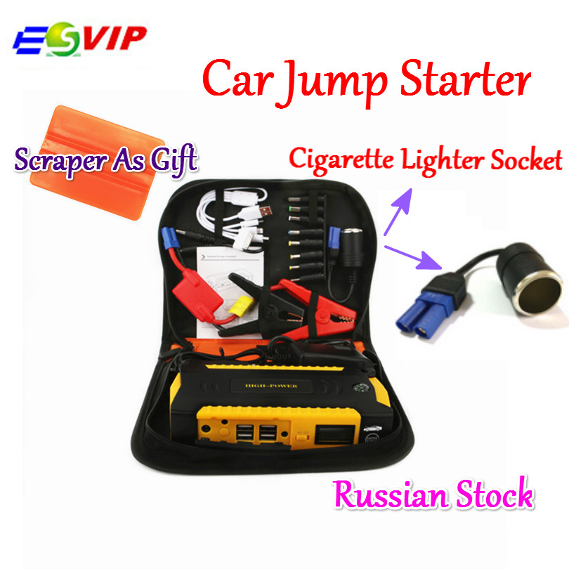 Car Jump Starter emergency power supply 4USB Multi-Function Mini Portable 16000mah Car Jump Starter Booster Starting Power Bank practical 89800mah 12v 4usb car battery charger starting car jump starter booster power bank tool kit for auto starting device
