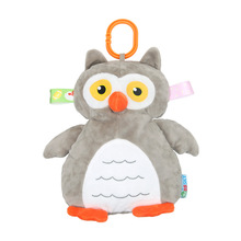 Cartoon animal three-dimensional owl child comfort doll soft plush toy Infant and pendant suitable for 6m+