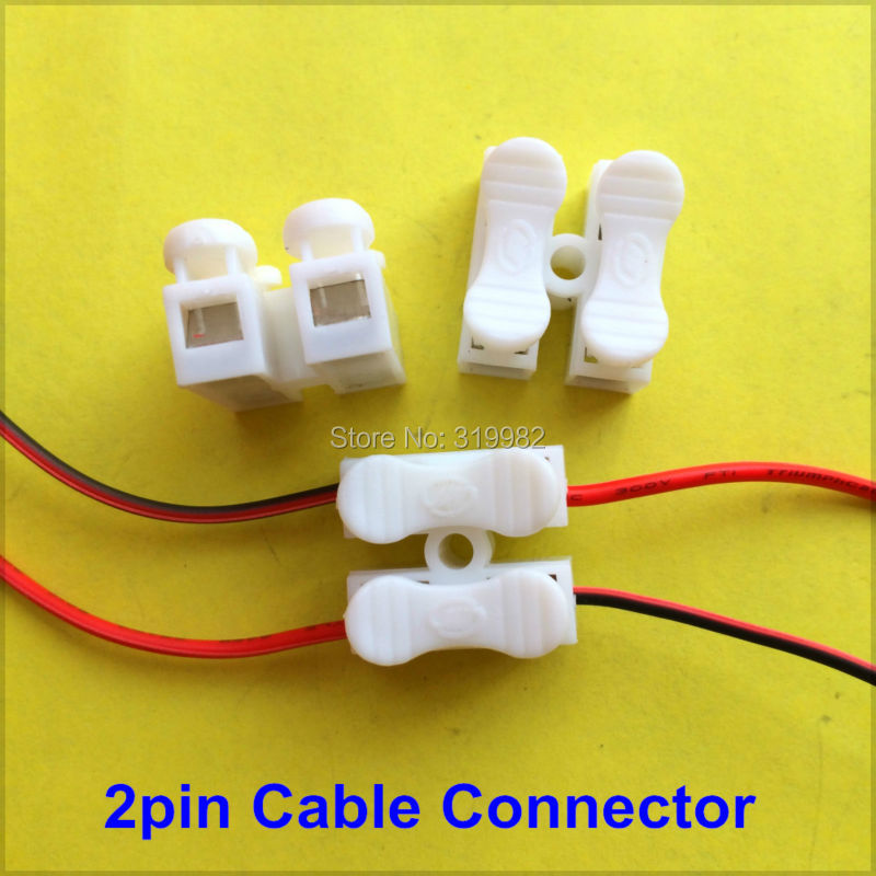 Online Shop 20X 2P Spring Connector wire press push quick 2pin ...