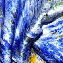 """Silk Scarf Shawls Van Gogh' Oil Painting Works """"Road with Men Walking"""""""