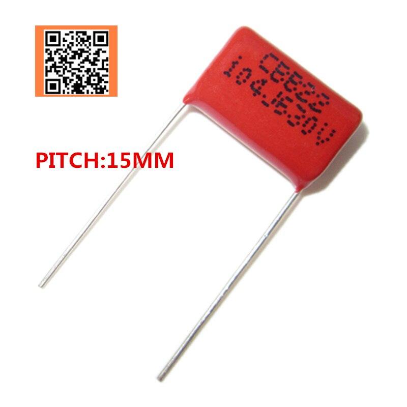 10 шт. 630 в 100NF 0,1 мкФ 104J 330NF 0,33 мкФ 334J Pitch 15 мм 5% DIP CBB полипропиленовый пленочный конденсатор