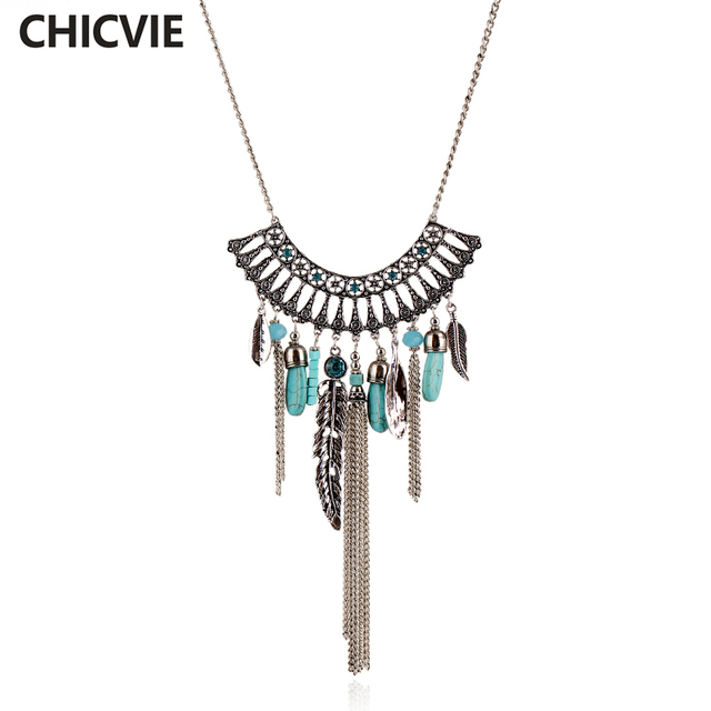 Chicvie trending jewelry leaf maxi necklaces pendants long silver chicvie trending jewelry leaf maxi necklaces pendants long silver color necklace for women sne160040 aloadofball Gallery