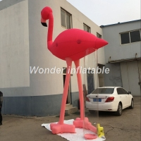 2017 new arrival 5mH pink oxford giant inflatable flamingo balloon replica model for event decoration