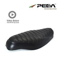N2 PEDA Cafe racer seat 54cm Vintage Black SR for HONDA Super Cub universal Motorcycle Retro Saddle Asiento Sitz Sattel