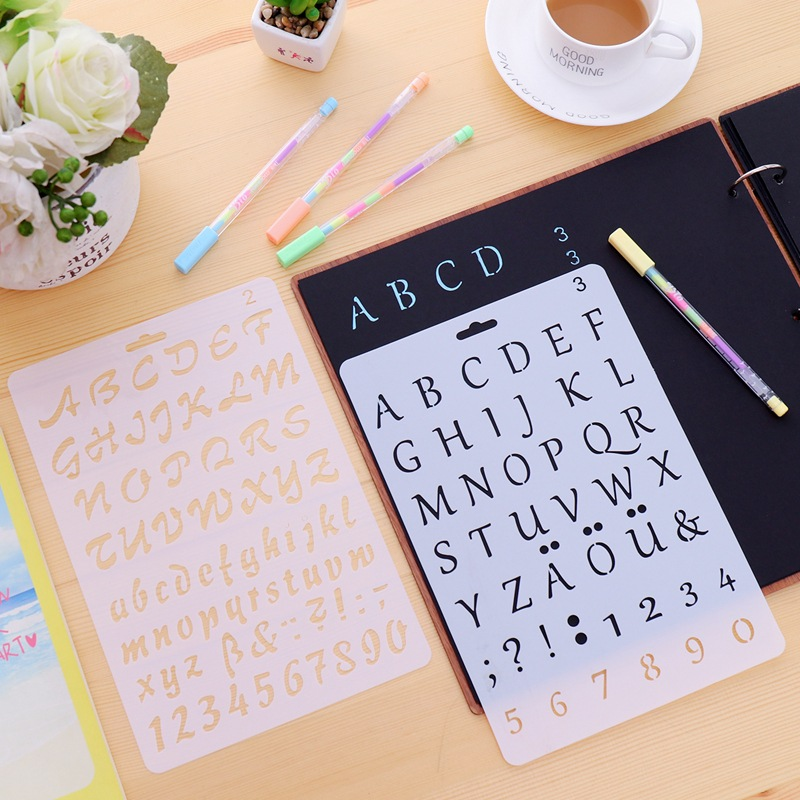 Diy New Digital Alphabet Decoration Tools Digital Stencil Template Drawing Board