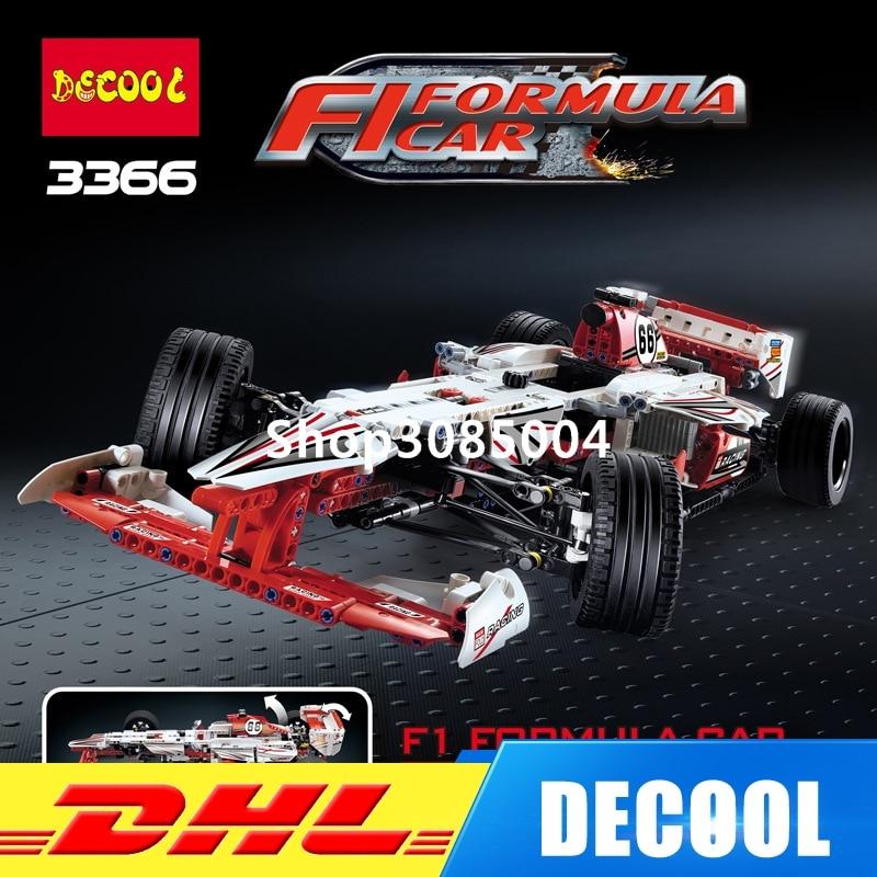 IN Stock DHL Decool 3366 1219pcs Technic 2 In 1 F1 Formula Racing Car Building Block Compatible 42000 Brick Toy велосипед formula f 3000 оранжевый