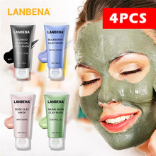4 Kind Function Face Mask Remove Blackhead Bamboo Charcoal Deep Cleansing black for Pores Nourishing Skin Care
