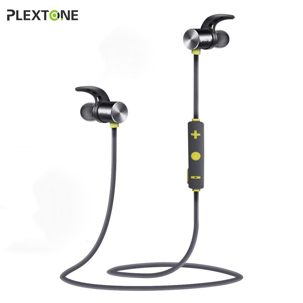 Plextone Bluetooth Earphone IPX5 Waterproof Sports Wireless Earbuds Noise Cancelling Headphones for iPhone Xiaomi Phone