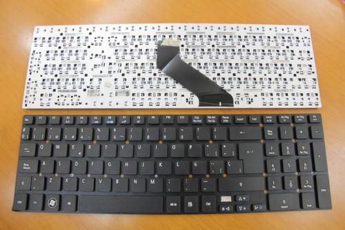 New Laptop keyboard for   Acer Aspire V3-551 V3-731 V3-571 V3-571g V3-771 V3-771g  SP  layout laptop keyboard for acer silver without frame bulgaria bu v 121646ck2 bg aezqs100110