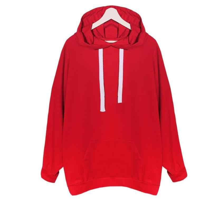 5568f249e94 ... Over size Spring Autumn Zanzea Womens Long Sleeve Hooded Loose Casual  Warm Hoodies sweatshirts for girls ...