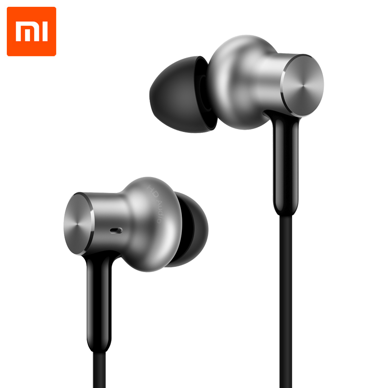 Xiaomi Mi Hybrid Pro HD Earphone Triple Unit Drivers Dual Dynamic Balanced Armature for mobile phone Xiaomi Samsung Iphone xiaomi hybrid dual drivers earphones 2 black