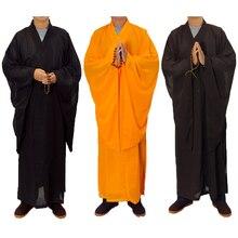3 цвета дзен-буддистское одеяние на монах медитация платье монах тренировочная форма костюм набор буддистской одежды
