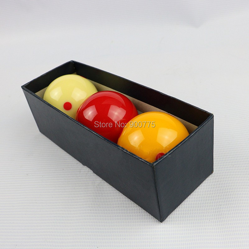 French carom billiards hall Spotted 61 5mm resin ball 3 pcs pack billiard accessories