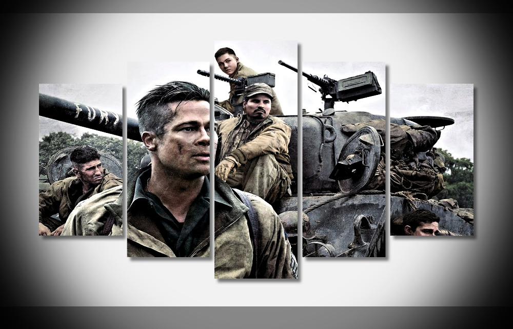 5255 Fury Movie Poster Poster Framed Gallery wrap art print home wall decor wall picture Already to hang digital print