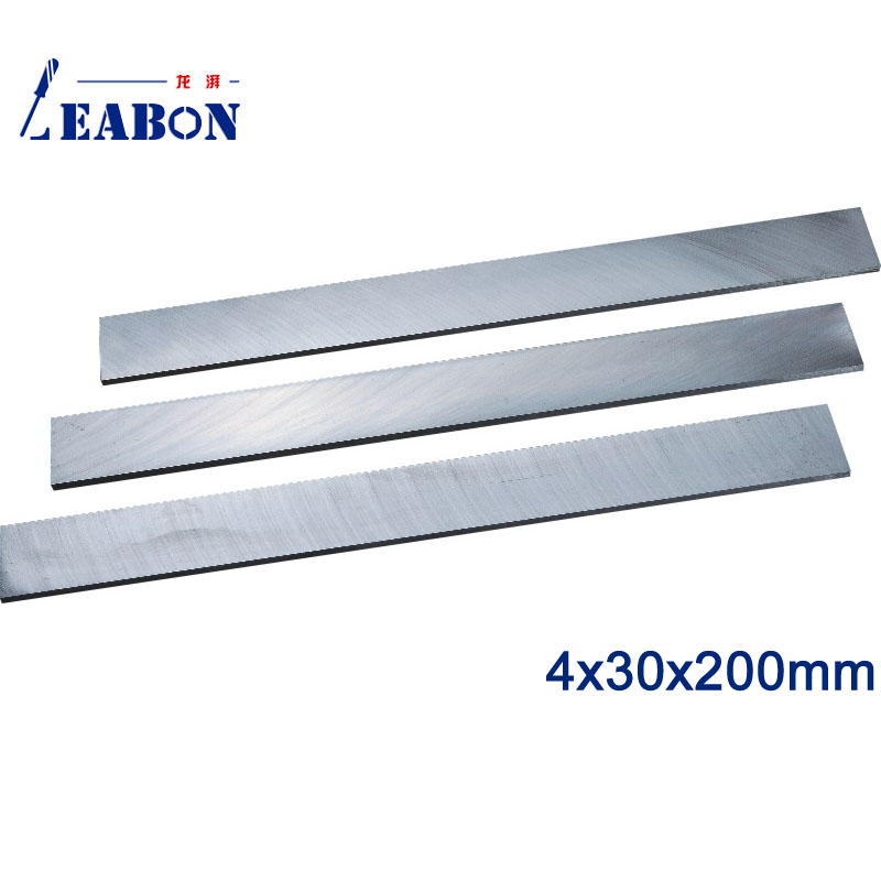 LEABON 4 X30x200mm W6% HSS Flat Wood Planer Blades Woodworking Power Tools Accessories  (A01010044)