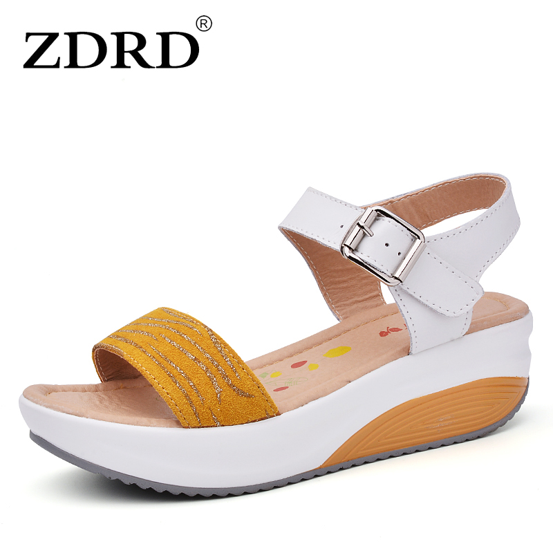 ZDRD New women sandals summer wedges sandals gladiator  sandals round toe platform sandals female shoes flip flops ladies shoes phyanic 2017 gladiator sandals gold silver shoes woman summer platform wedges glitters creepers casual women shoes phy3323
