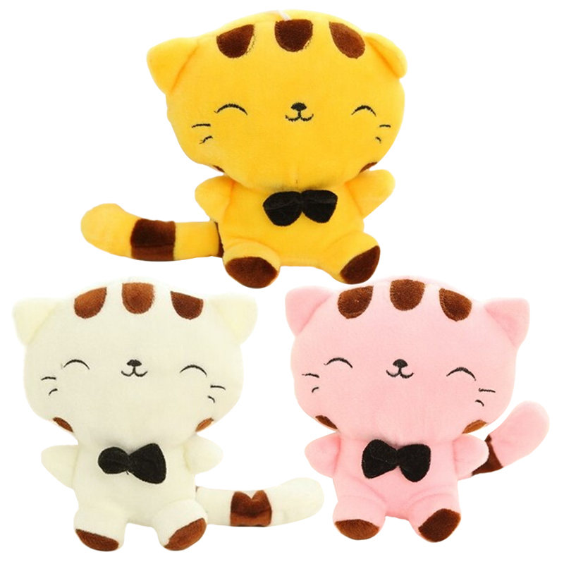 1pc 10'' 25cm Lovely Big Face Cat Plush Toy Stuffed Animal Cat Doll for Baby Kids Children's Gift Home Decoration Throw Dolls 30 32cm stuffed sheep plush doll stuffed toy for kids gift home decoration