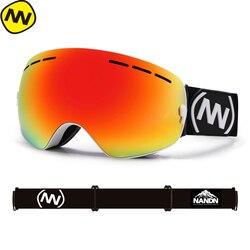 جديد NANDN ماركة تزلج نظارات مزدوجة UV400 مكافحة الضباب قناع للتزلج الكبير نظارات التزلج الرجال النساء الثلوج على الجليد نظارات