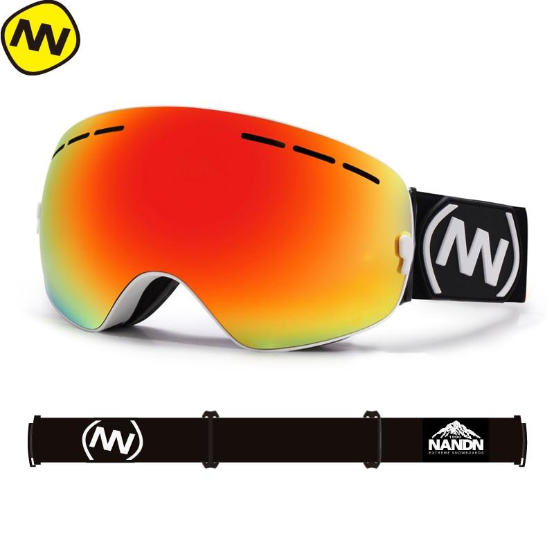 New NANDN Brand Ski Goggles Double UV400 Anti-fog Big Ski Mask Glasses Skiing Men Women Snow Snowboard Goggles
