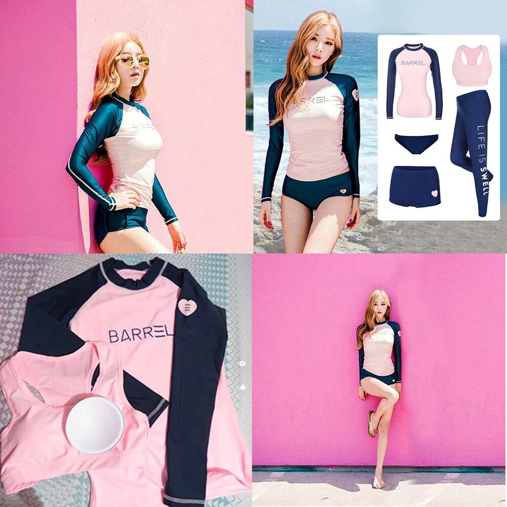 Bathing Suits for Women Bikini 2019 Girls Modest Long Sleeves Swimsuit Patchwork Fitness Swimming Wear Plus Size Swimwear Uk Buy in Bikinis Set from Sports Entertainment