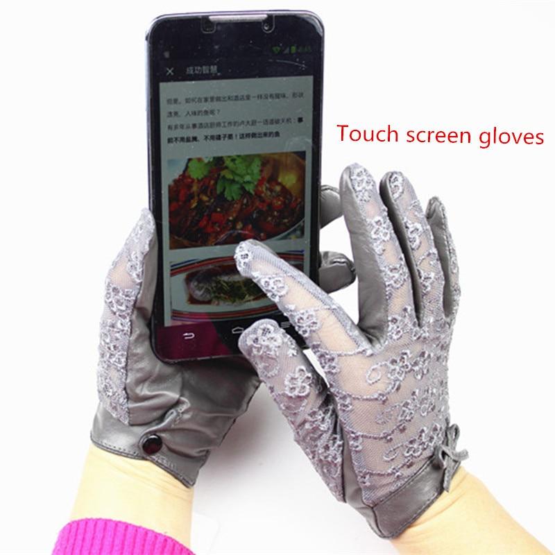 Жіночі рукавички з овчини з - Аксесуари для одягу - фото 3