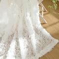 2016 Новый Корейский розы шторы 3d занавес Романтический стиль короткие Просвечивающие тюль cortinas гостиная спальня декор