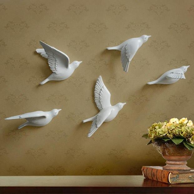 Hervorragend 3D Tauben Harz Haken Kreative Heimat Zimmer Dekorative Tipp Moderne Zubehör  Vogel Wandbehang Haus Wohnzimmer Tür Zier