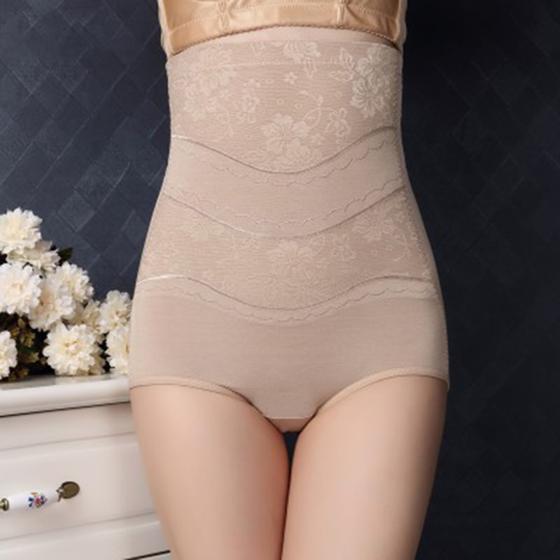Tummy summer thin section high waist corset Slim breathable mesh hip effect