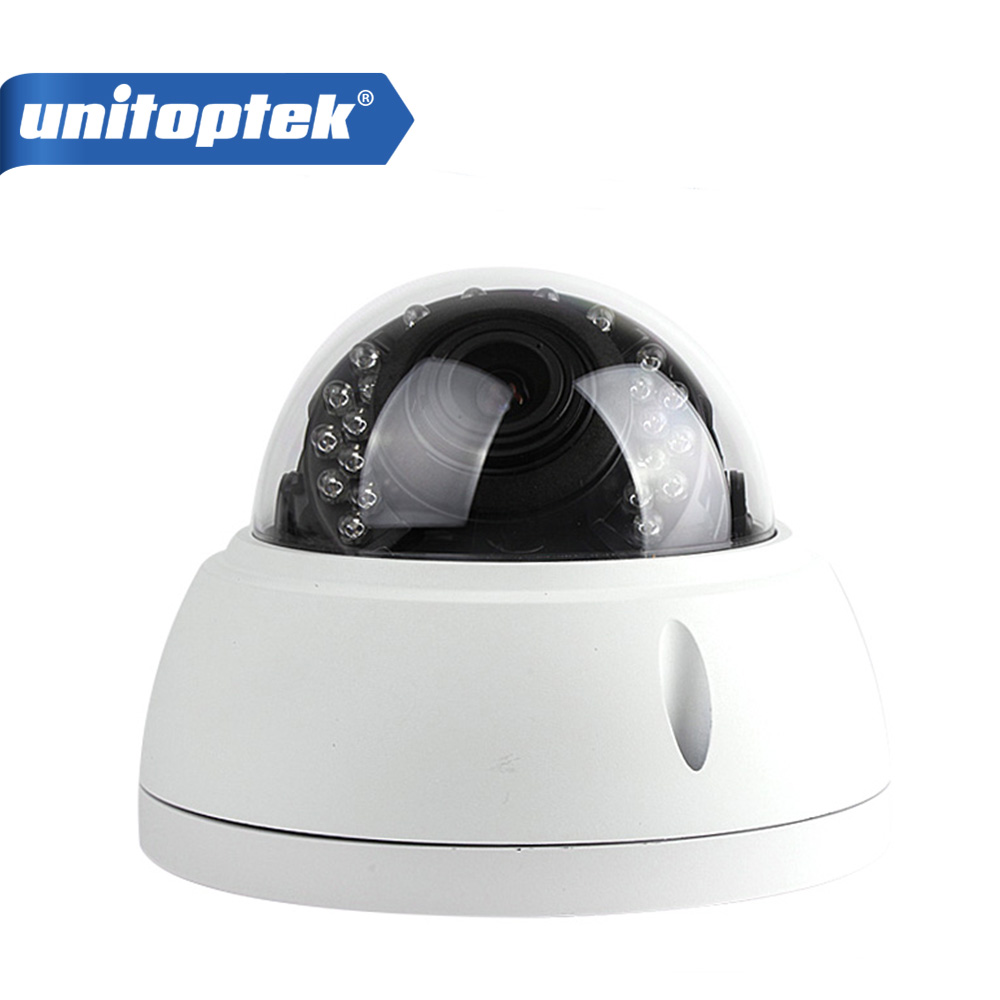 UNITOPTEK 2MP Full HD IP Camera 1080P POE Outdoor Dome 2.8-12mm Lens Security Network Camera Onvif iPhone Android View full hd poe camera 48v poe ip camera 720p 960p 1080p ip camera poe outdoor bullet security 2mp camera onvif 2 0 ip66