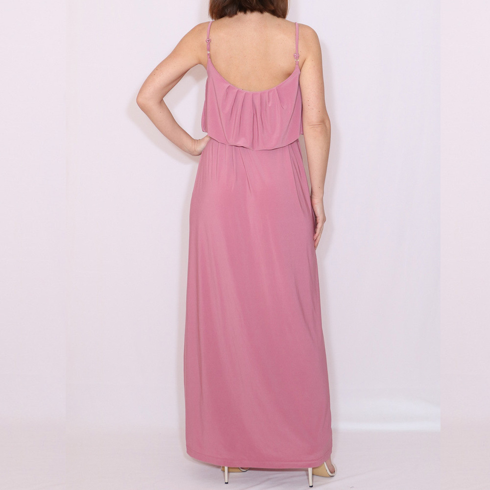 Spaghetti Straps Chiffon Bridesmaid Dresses Floor Length A Line Sleeveless  Dusty Rose Pleat -in Bridesmaid Dresses from Weddings   Events on  Aliexpress.com ... b9789be1ec48