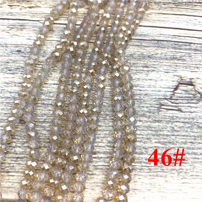 148 шт 2x3 мм/3x4 мм/4x6 мм хрустальные бусины Рондель граненые стеклянные бусины для изготовления ювелирных изделий DIY женский браслет ожерелье ювелирные изделия