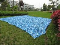 2 5M 9M Filet Camouflage Netting Gazebo Netting Blue Camo Netting For Event Shelter Activity Decoration