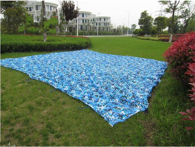 2.5M*9M filet camouflage netting gazebo netting blue camo netting for event shelter activity decoration portable car canopy 5m 9m filet camo netting blue camouflage netting sun shelter served as theme party decoration beach shelter balcony tent