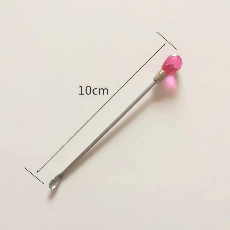 Professionnel 3 pièces Nail Art remuer tige outil en acier inoxydable acrylique poudre liquide UV Gel cuillère spatule Pin stylo à point