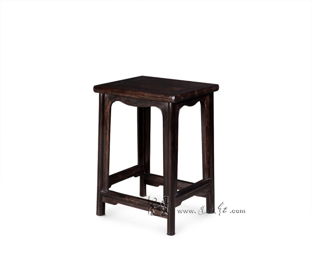 Small Tea Table Living Room Coffee Desk Chinese Classical Teapoy Solid Wood Side End Table Burma Rosewood with Ruyi Chi Grain