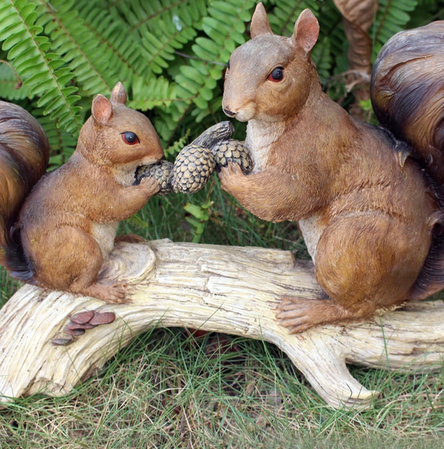 cheap simulation small animals mouse ornaments resin crafts sculpture garden courtyard lawn garden decorations in garden buildings from home garden on - Garden Animals