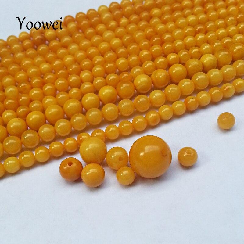 GroßZüGig Yoowei Alte Honig Gelb Huhn Öl Perlen Natürliche 3mm--7mm Lose Perlen Diy Armband/halskette 100% Echte Perlen Perlen Schwimm Sole