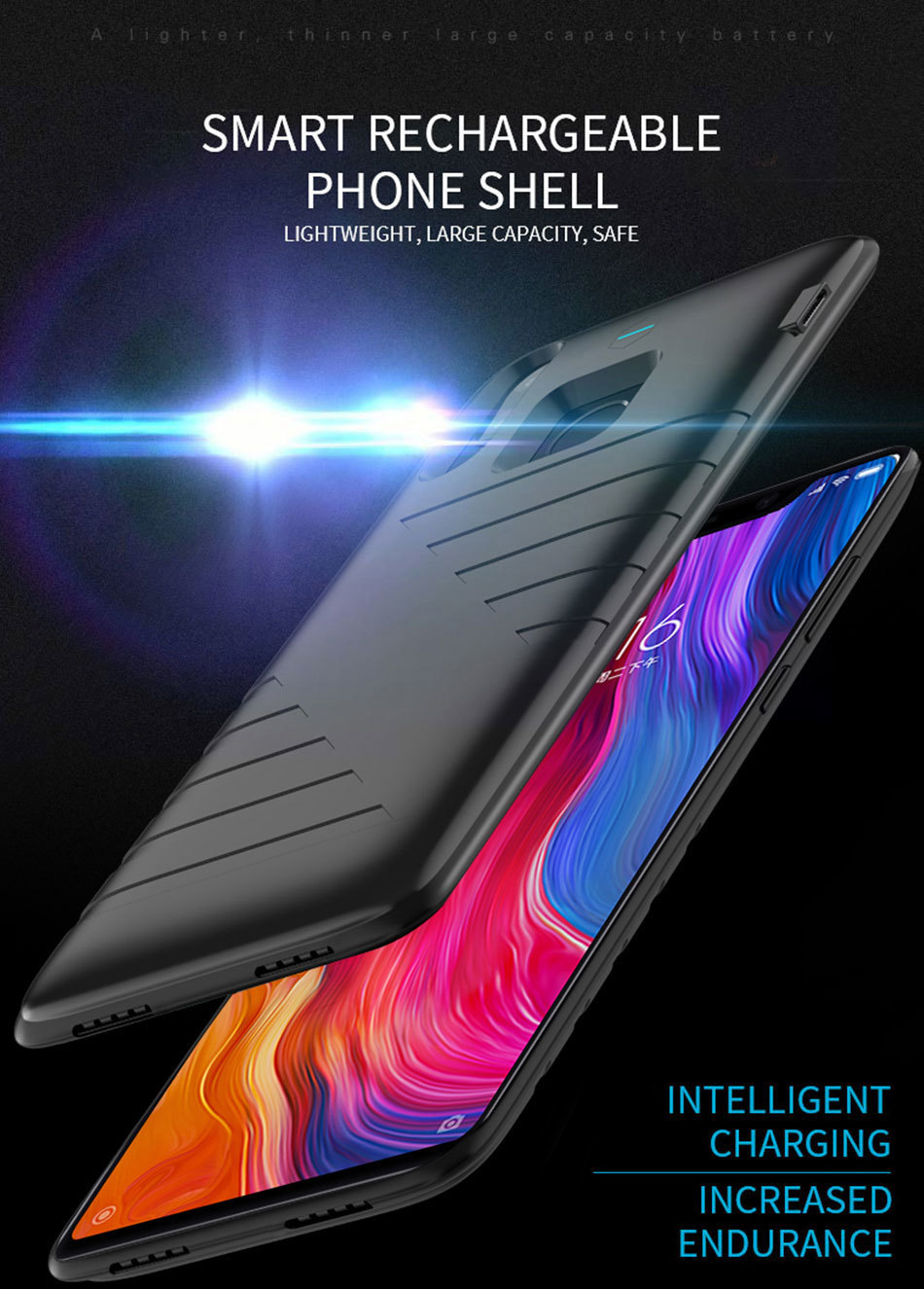 6800mah Battery Case For Xiaomi Mi 9 8 External Battery Portable Power Bank Case For xiaomi Mi 8SE Battery Charger case